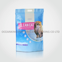 stand up heavy duty handle bag for cat litter
