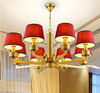 Design solutions international chandelier red lampshade pendant crystal LED light
