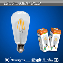 alibaba express AC220V LED filament bulb st64 filament e27 led light bulb 2w/4w/6w/8w
