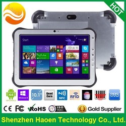 Factory HAOEN HT10 IP65 10 Inch Windows 8 Rugged Tablet PC Industrial Use with RJ45 USB HDMI RFID NFC Finger printer Barcode 3G