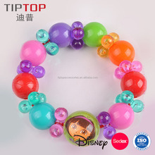 2017 New Style Wholesale Fashion Plastic Bead Bracelet With Charm