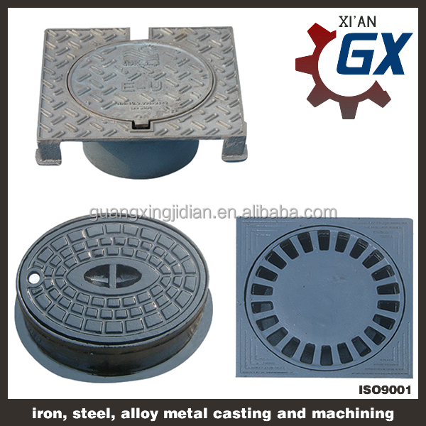 Wholesale high quality en124 d400 Ductile cast iron manhole cover price