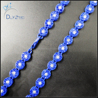 latest hip hop blue cuban chain big fake diamond necklace