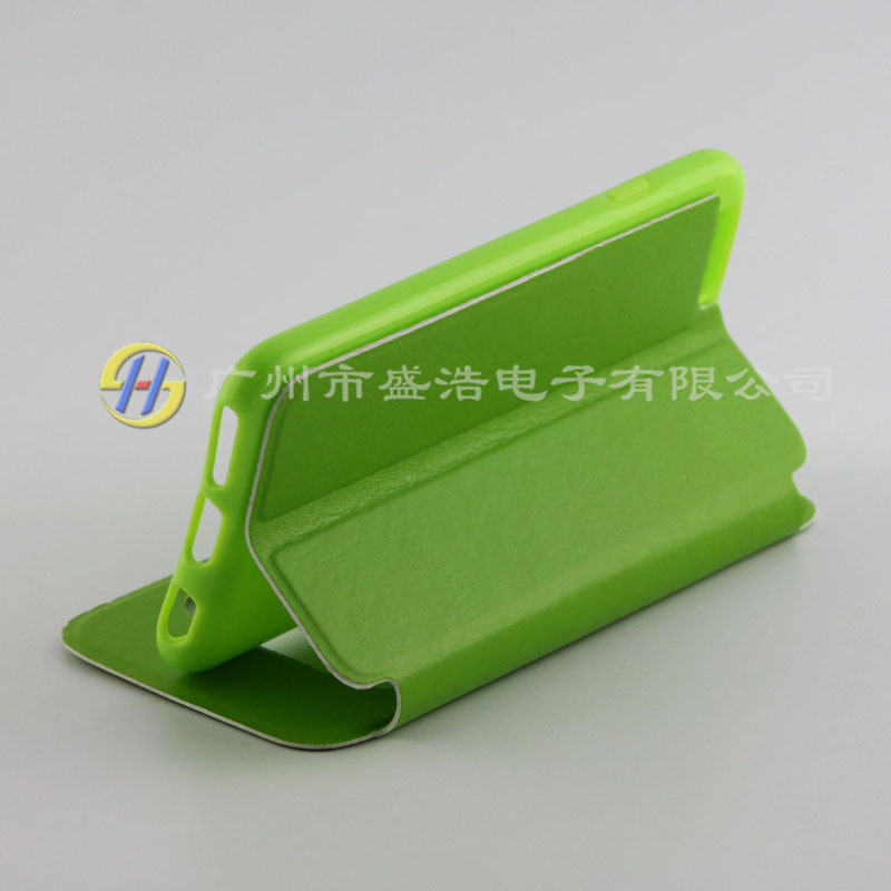 window PU nappa leather flip mobile cell phone case cover for Apple for iphone 6 4.7