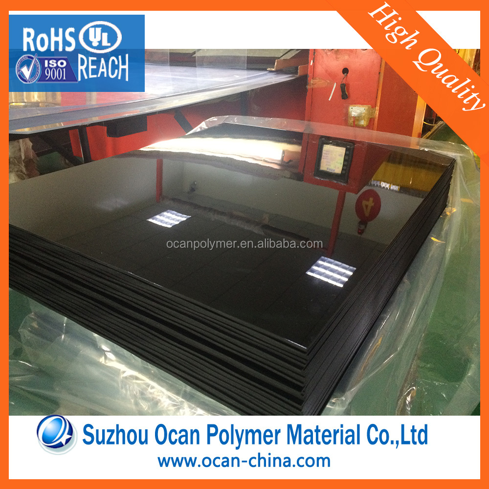 4x8 Feet UV Resistant Glossy Black PVC Plastic Laminating Sheet