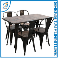 Hot popular wooden dining table chair designs