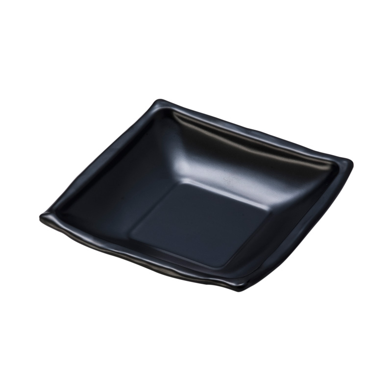 Melamine square deep bowl for soba dish
