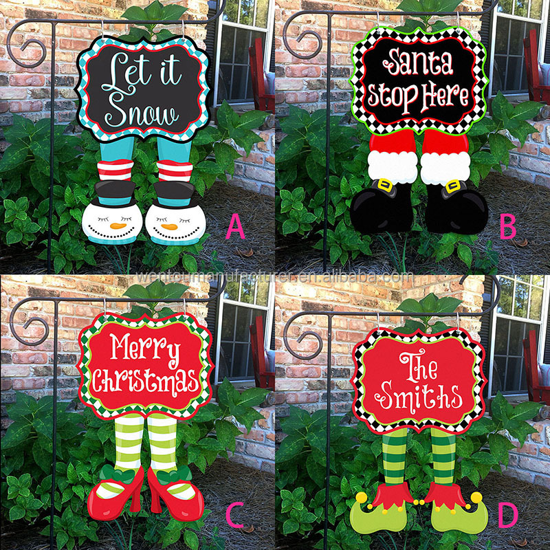 christmas garden flags. Christmas Garden Flag Santa Stop Here Flags Snowman Wholesale