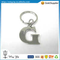 OEM and ODM trendy Letter G Alphabet Zinc alloy metal Promotion Key Chain