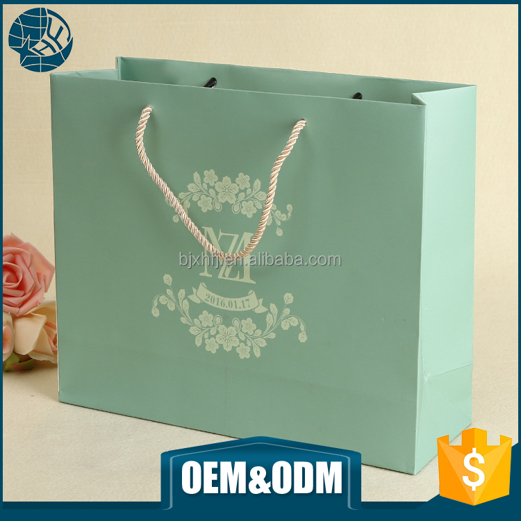 Luxury fancy decoration handmade advertising shopping handle craft paper gift bag custom wedding paper bag bag