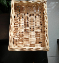 Large Natural Wicker Food Serving Tray