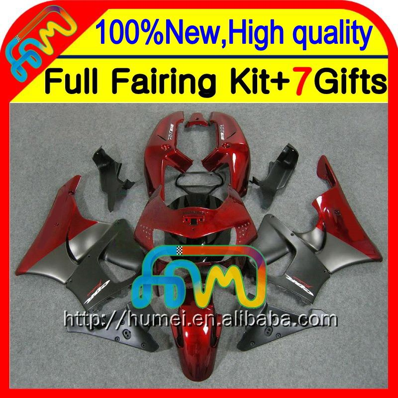 7gifts Dark red For HONDA CBR919RR 98-99 CBR900RR 98 99 35CL2 Hot Red grey CBR 919RR CBR 919 RR CBR919 RR 1998 1999 Fairing
