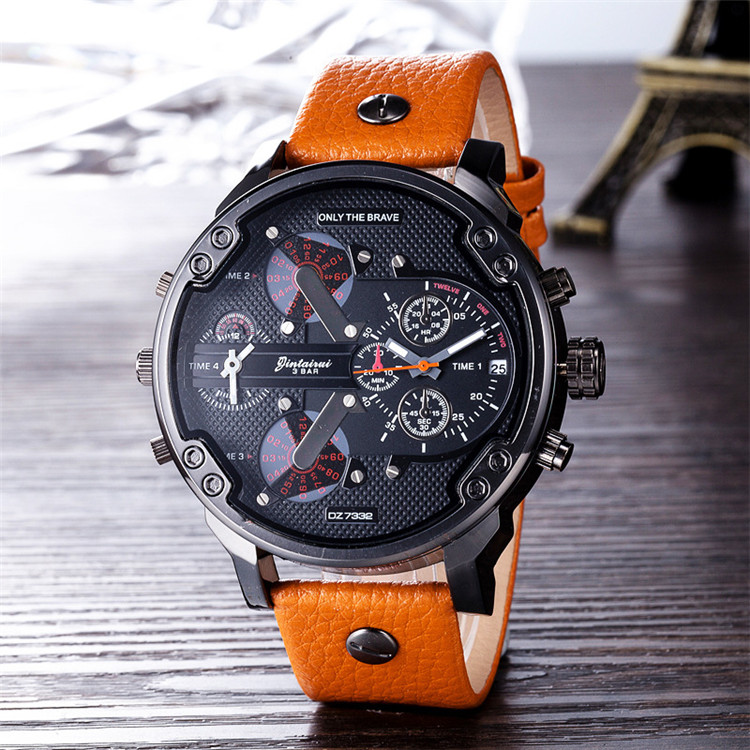 2019 Customs Wholesales DZ73 watch man clock leather OEM luxury bracelet watches men Factory price fashion watch