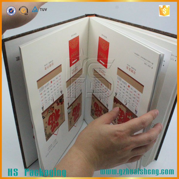 thick customized size hardcover book hot stamping