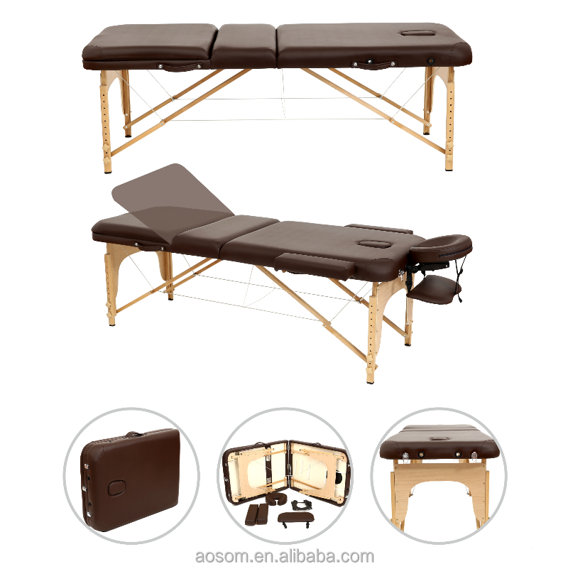 Wooden Portable Folding Massage Table Beauty Bed Massage Bed
