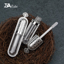 Double cute mini luxury led light empty custom lip gloss containers