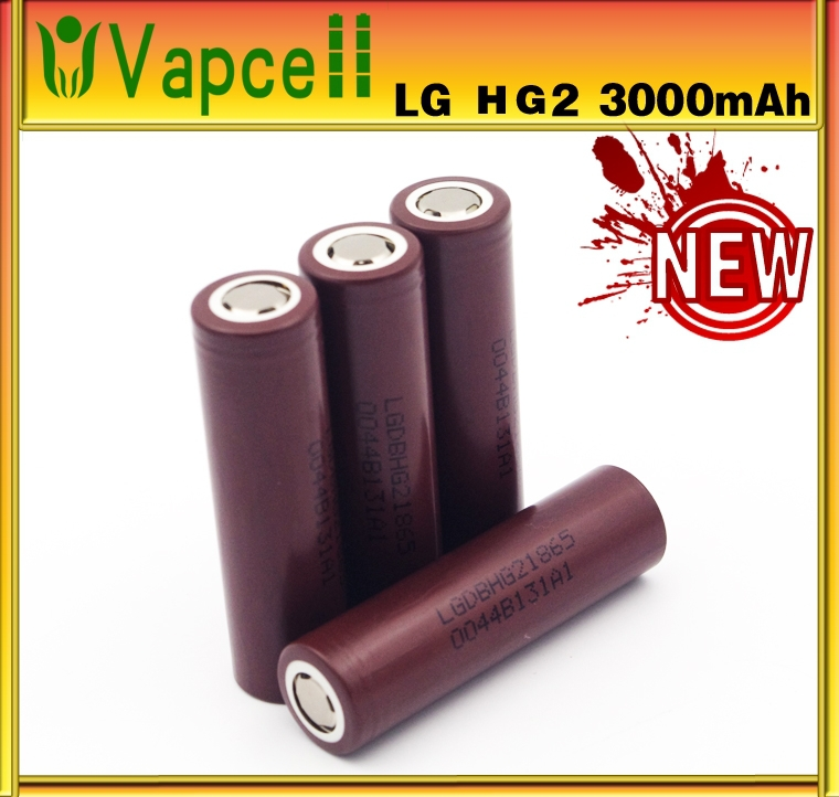 Full Capacity LG HG2 18650 3.7V 3000mAh HG2 High Drain High discharge Rechargeable Battery, Hot Selling! In Stock!