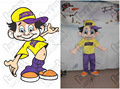 customized cool boy mascot costumes
