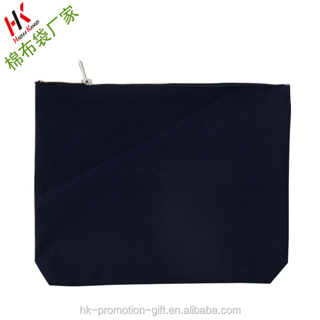 Free shipping- cheap pure color Cotton canvas Cosmetic Bag.