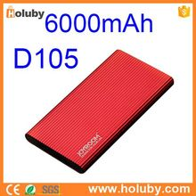 JR- D105 6000mAh Joyroom Aluminum Shell Mobile Power Bank for Apple Samsung Android Smartphone Tablets Camera