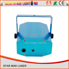 Latest design pub laser light projector four in one mini laser disco lights cheap price stage light with MP3