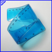 New designer 30cm rolling clear PVC flexible curve ruler