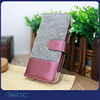 Business felt pu leather wallet mobile phone case for iPhone 6 6s