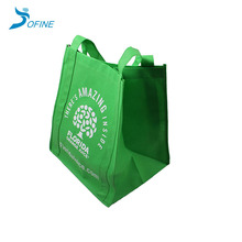 Promotional cheap custom non-woven shopping bag with logo printed