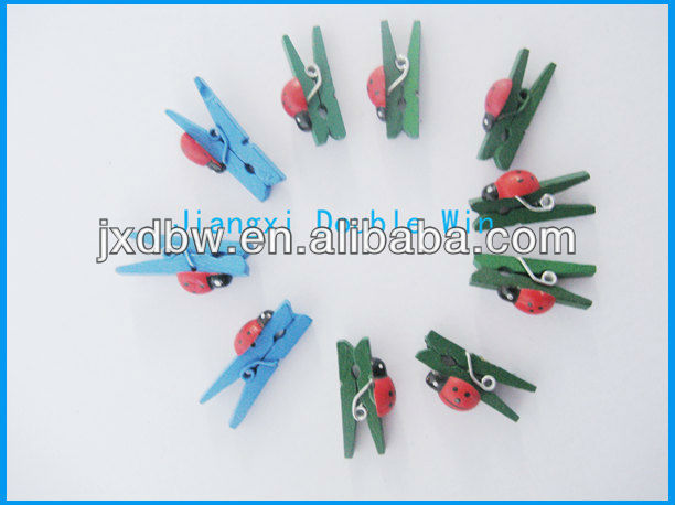 Decorative Clothes Clip Mini Animal Craft Wooden Clothes Pegs