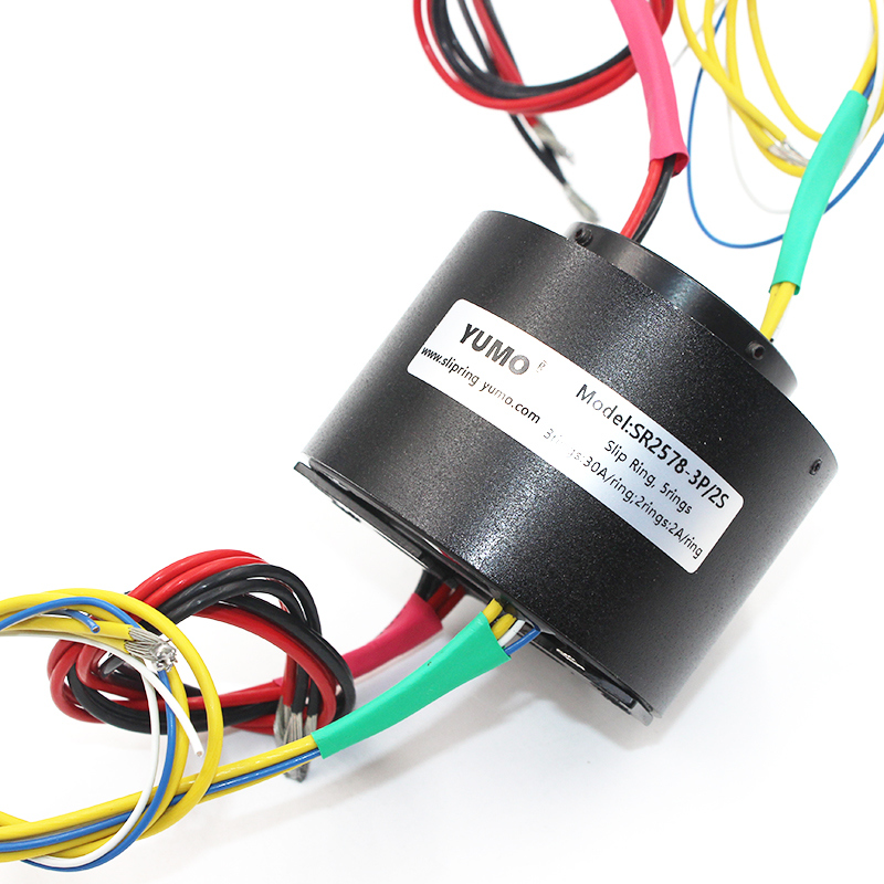 SR2578 bore size 25.4mm OD 78mm 5wires through bore slip ring