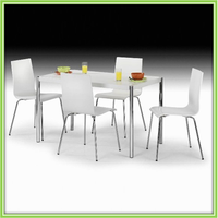 Hot Sale White Board Metal Dining Table And Chairs