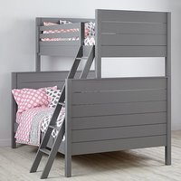 Solid Wood Pine Uptown Twin-Over-Full Wooden Bunk Kids Bunk Bed for Children