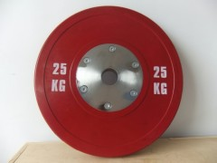 CAN OEM Competitive colour rubber coated weight plates checker plate weight