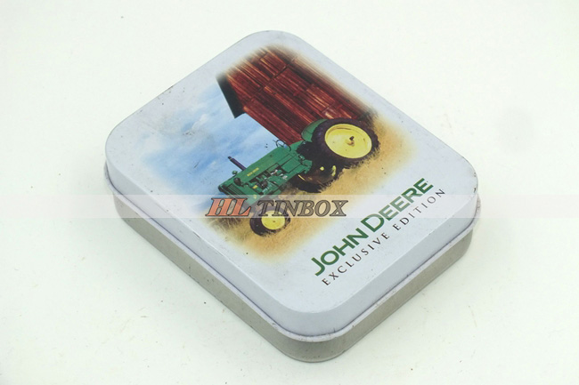 Rectangluar Gift Tin Box with High End Printed