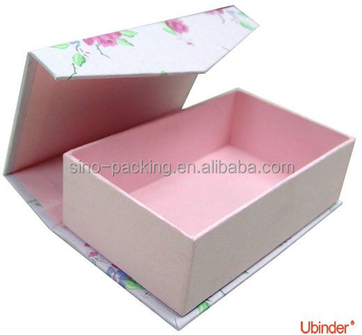 Christmas gift box hard paper magnetic box handmade gift box