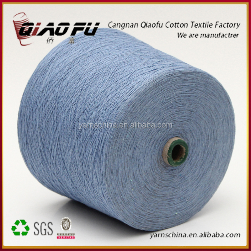 all kind of color oe carded regenerated 60/40 cotton polyester yarn for socks