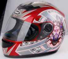 YM-823 adult full face helmet motorcycle helmet full face helmet with design graphic