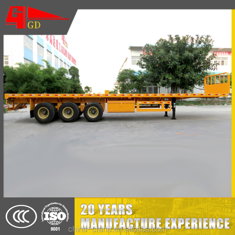 New arrival high tensile steel flat bed trailer for sale