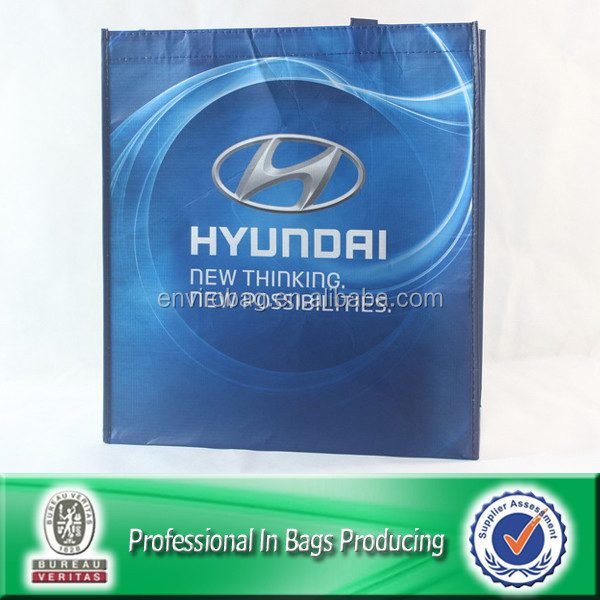 Lead Free Lamination Printed Recycled Bottle Fabric RPET Non Woven Promotional Gift Bag