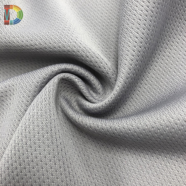 DW COOBER dry fit jersey knit cooling bird eye esd antistatic polyester fabric