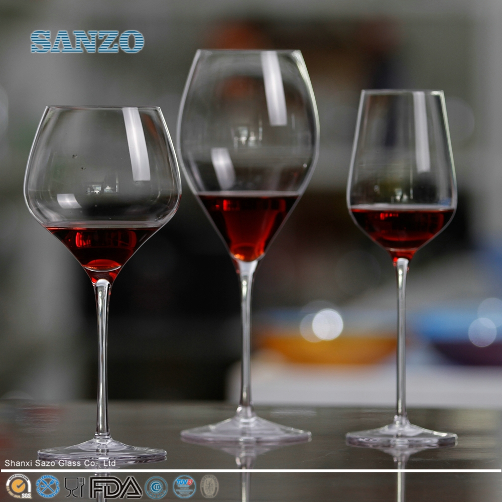 SANZO Rolling Bottom Glass Wine <strong>Cup</strong> & Blown Glass Water <strong>Cup</strong> & Glass Tumbler with Round Bottom & Glassware