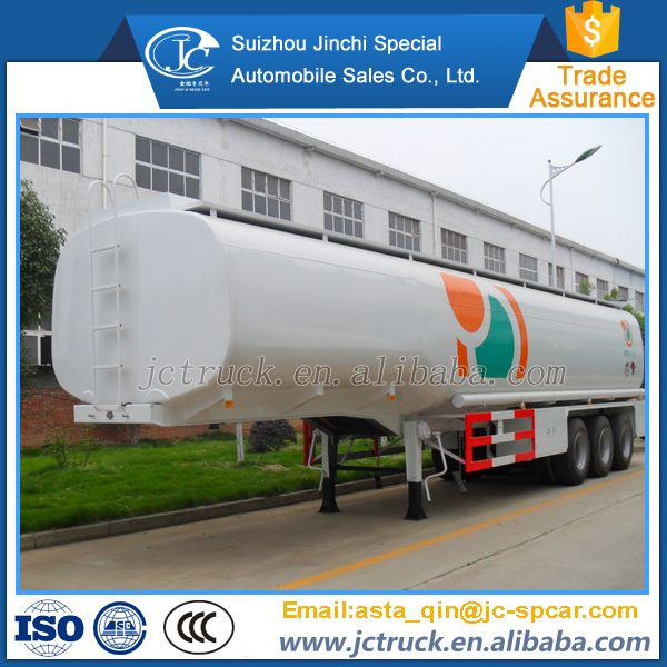 Diesel Power Type three axle petroleum tank semi trailer manufacturer's price