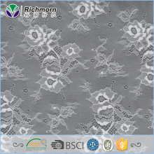 Wholesale custom length grey flower pattern 150cm width pearls sequin beaded lace fabric for wedding dress