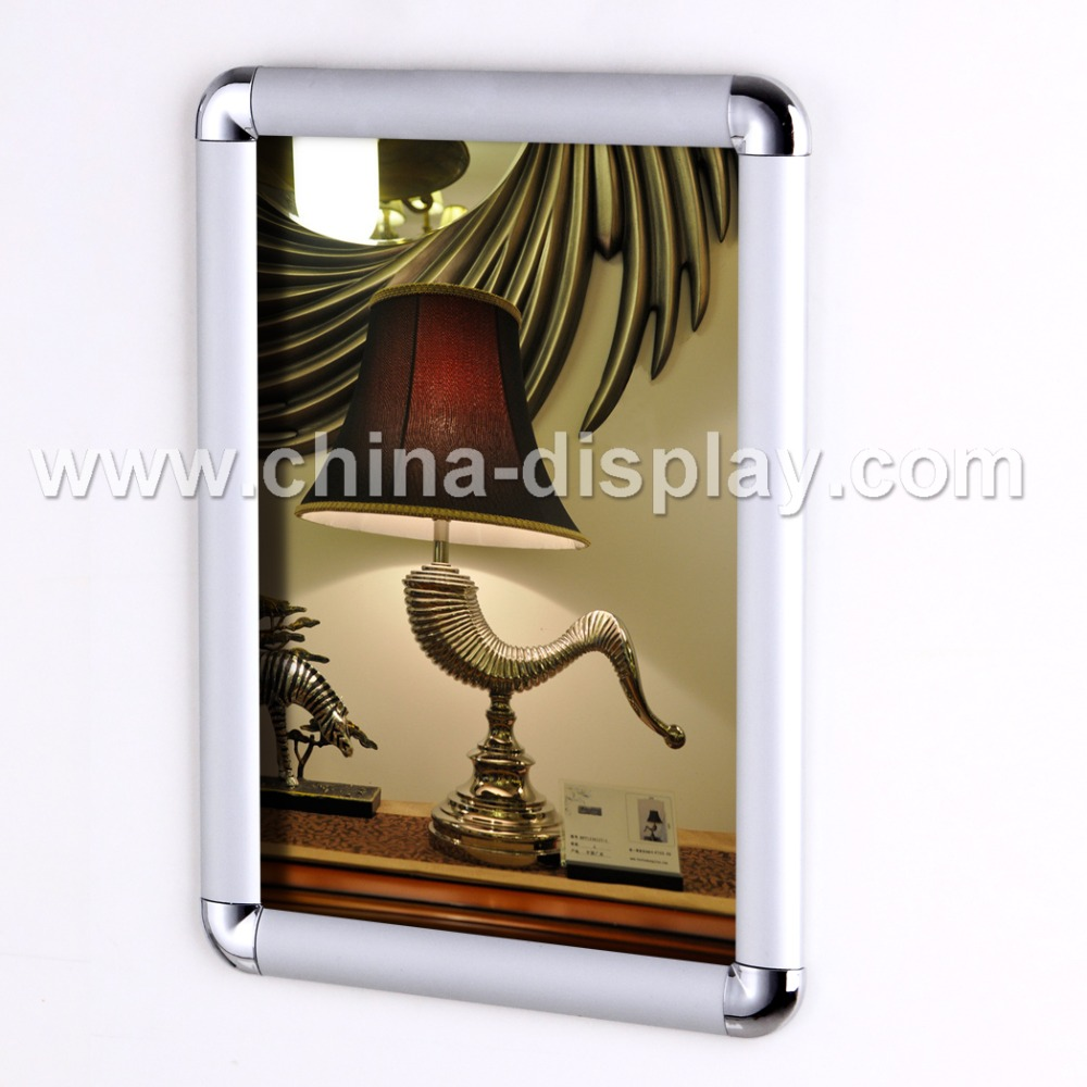 Aluminium snap edge frame sign flip open snap frame wall mounted frames