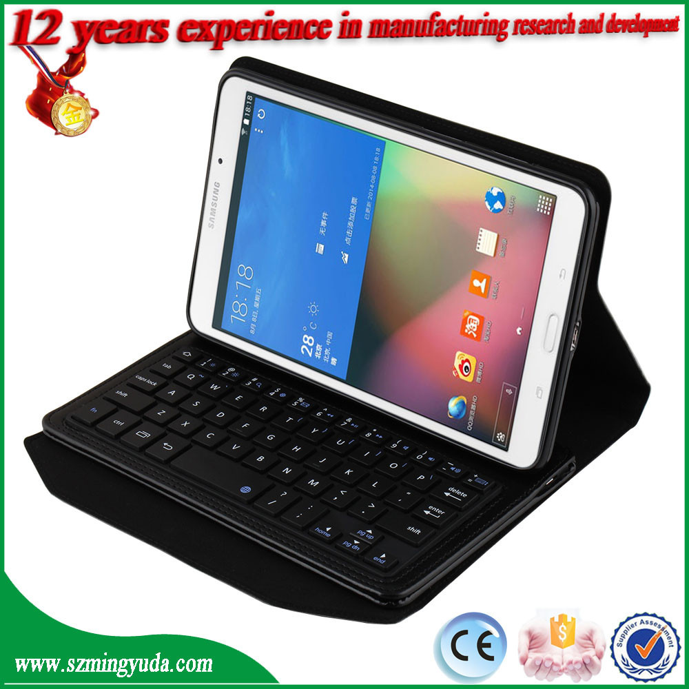 Bluetooth 3.0 Keyboard Leather Protective Case with Holder for Samsung Galaxy Note 8 inch T330