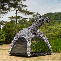 Outdoor or Indoor animal shape tent Zebra Shape tent for Kids