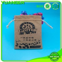 2015 New style natural jute drawstring gift pouch