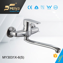 China Factory Durable Zinc Body and Zinc Handle Wall Mounted Kitchen Faucet, Deft Sink Mixer with Rotating Spout