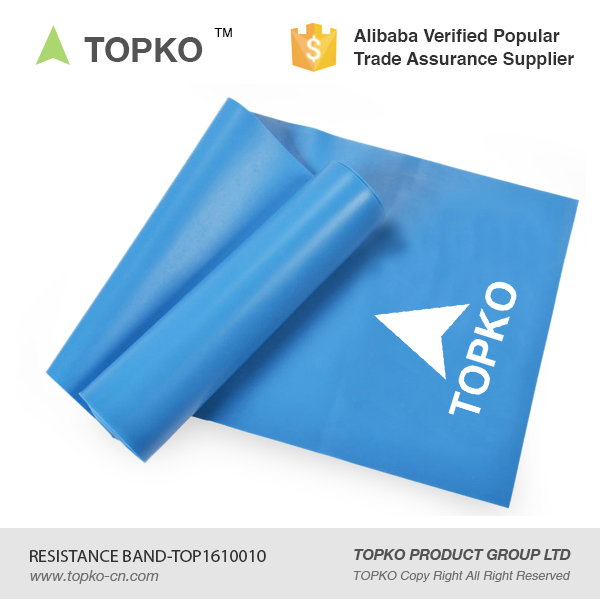 TOPKO Private Label Exercise Resistance Bands Physical Therapy Fitness Theraband Stretch Band
