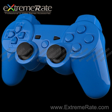 polished blue shell / housing with full set buttons replacement parts for playstation 3 for ps3 wireless controller